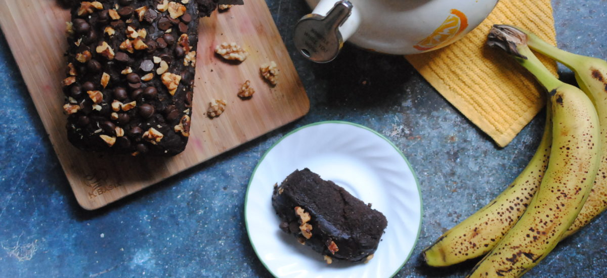 Easiest Vegan Chocolate Banana Bread