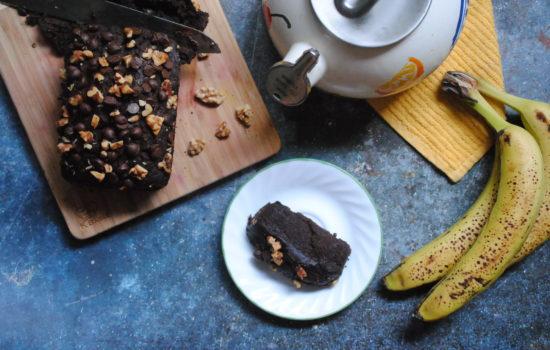 Easiest Vegan Chocolate Banana Bread
